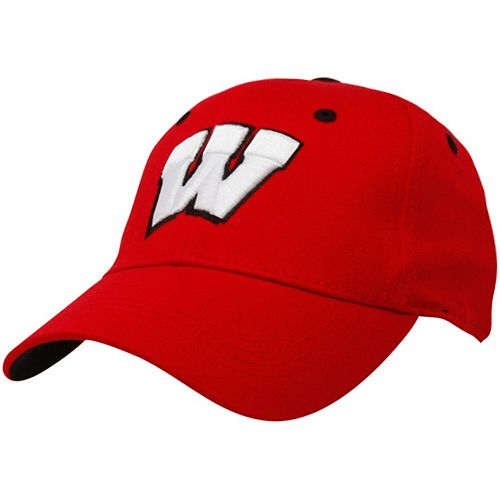 Top of the World Wisconsin Badgers Youth Cardinal One-Fit Hat