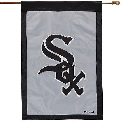 "Chicago White Sox 28"" x 44"" Applique Double-Sided House Flag"