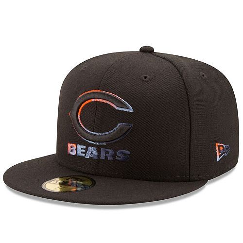 Men's New Era Black Chicago Bears Color Dim 59FIFTY Fitted Hat