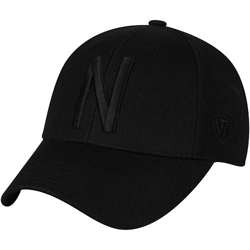 Men's Top of the World Black Nebraska Cornhuskers NCAA Dynasty Memory Fit Fitted Hat