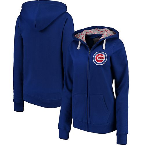 Women's Soft as a Grape Royal Chicago Cubs Line Drive Full-Zip Hoodie