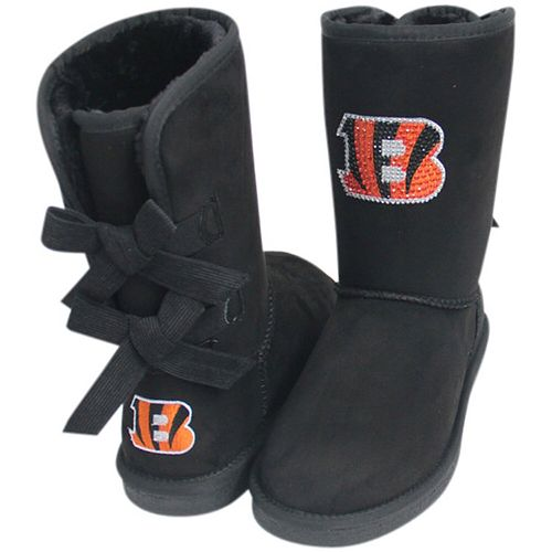 Women's Cuce Black Cincinnati Bengals Patron Bow Boots
