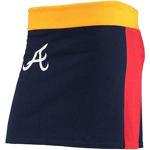 Women's Refried Tees Royal Atlanta Braves Mini Tee-Skirt