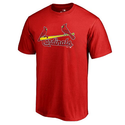 Men's Fanatics Branded Red St. Louis Cardinals Big & Tall Team Wordmark T-Shirt