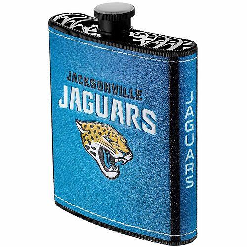 Jacksonville Jaguars 7oz. PU-Wrapped Plastic Hip Flask