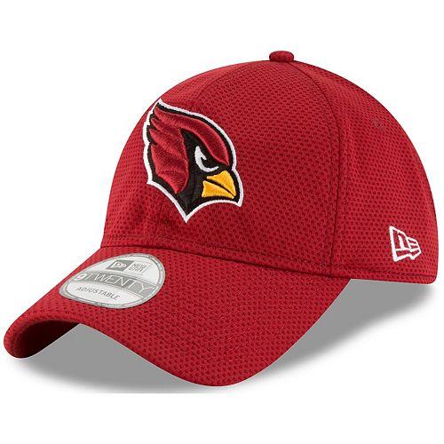 Men's New Era Cardinal Arizona Cardinals Perf Shore Training Mesh 9TWENTY Adjustable Hat