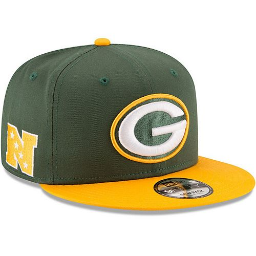 Youth New Era Green/Gold Green Bay Packers Baycik 9FIFTY Snapback Adjustable Hat