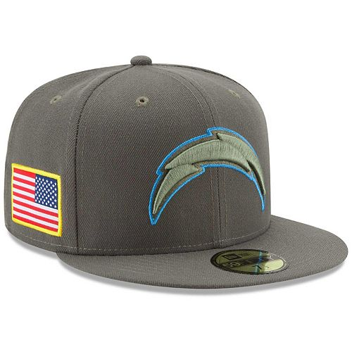 Men's New Era Olive Los Angeles Chargers 2017 Salute To Service 59FIFTY Fitted Hat