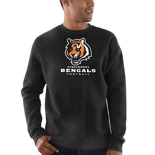 Men's Majestic Black Cincinnati Bengals Critical Victory Sweatshirt