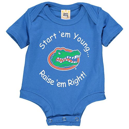 Newborn & Infant Royal Florida Gators Start 'Em Young Bodysuit