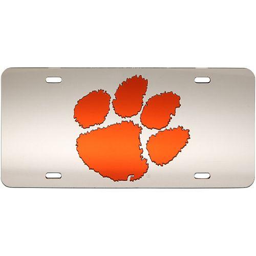 WinCraft Clemson Tigers Logo Crystal Mirror License Plate