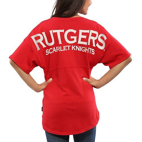 Women's Scarlet Rutgers Scarlet Knights Spirit Jersey Oversized T-Shirt