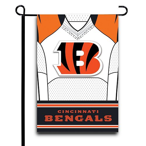 "Cincinnati Bengals 12.5"" x 18"" Double-Sided Jersey Foil Garden Flag"