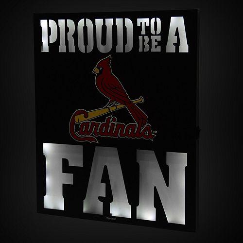 """St. Louis Cardinals 12"""" x 15"""" LED Metal Wall Decor"""
