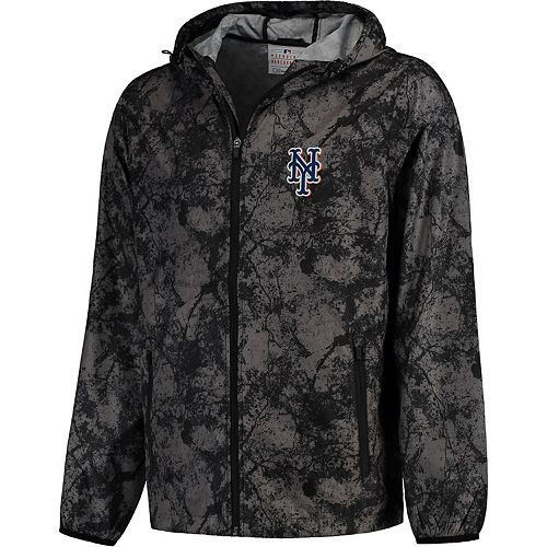Men's G-III Sports by Carl Banks Charcoal New York Mets Wind Chill Lightweight Full-Zip Jacket