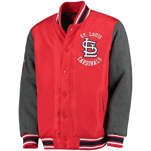Men's G-III Sports by Carl Banks Red St. Louis Cardinals Original Varsity Button-Up Jacket