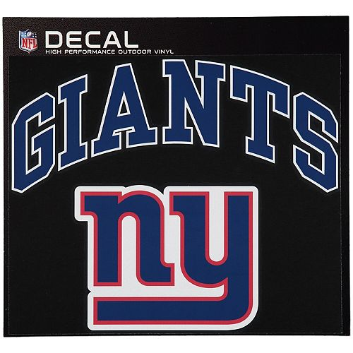 """New York Giants 12"""" x 12"""" Arched Logo Decal"""