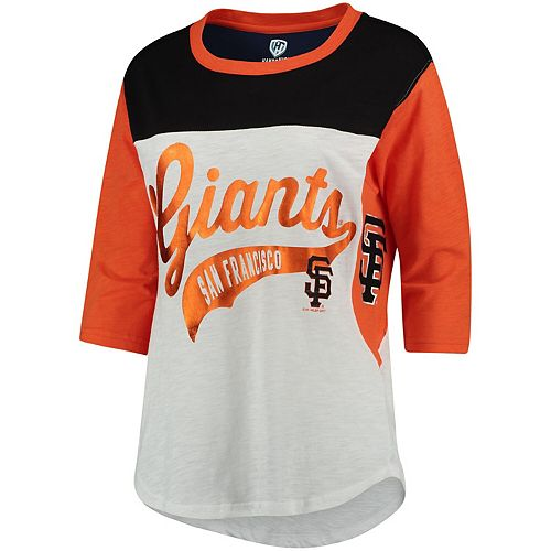 Women's Hands High White San Francisco Giants Season's Pass 3/4 Sleeve T-Shirt