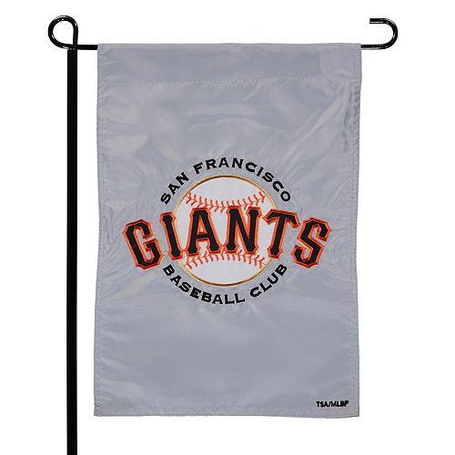 """San Francisco Giants 12.5"""" x 19"""" Applique Double-Sided Garden Flag"""