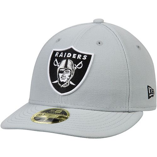 Men's New Era Gray Oakland Raiders Omaha Low Profile 59FIFTY Structured Hat