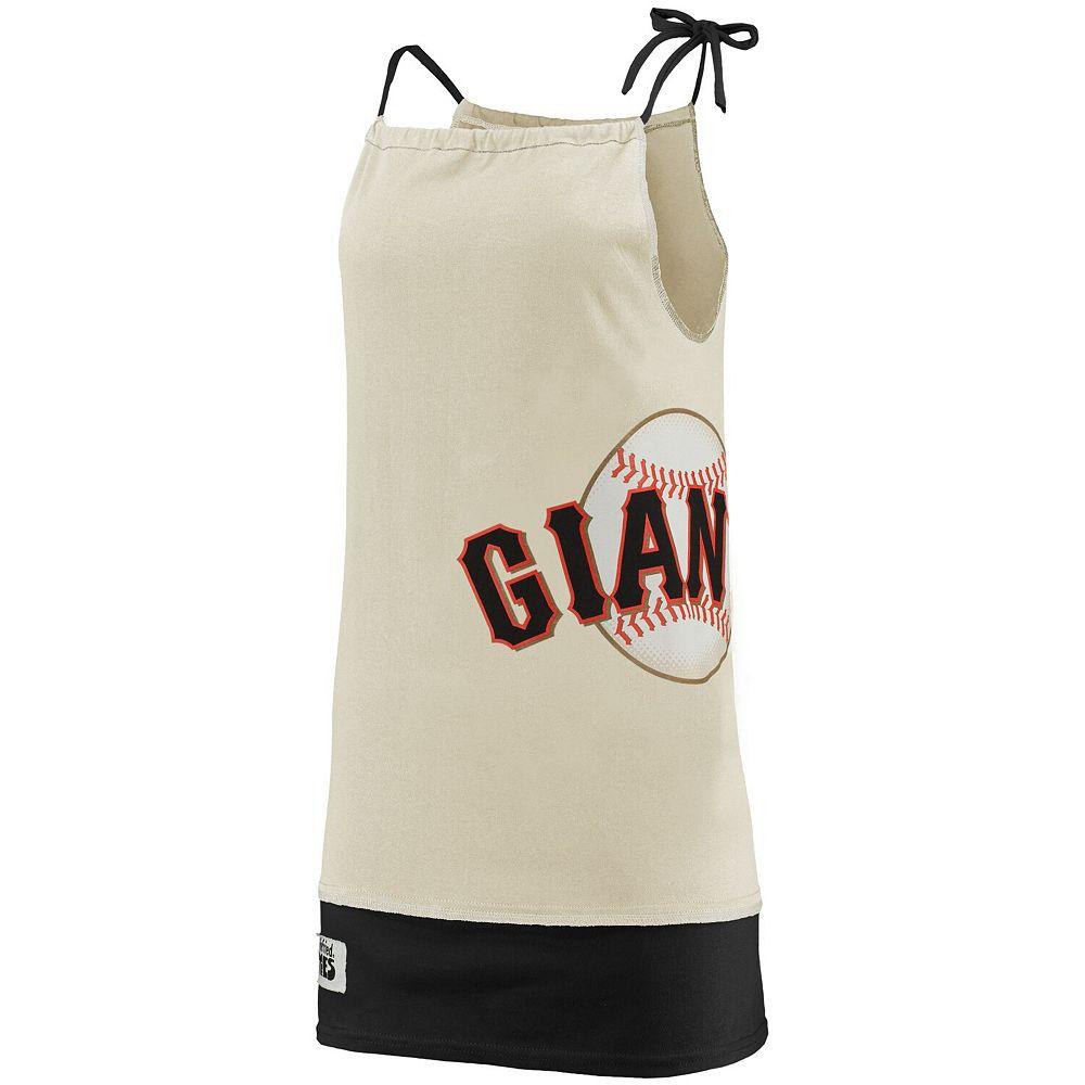 Women's Refried Tees Cream San Francisco Giants Tee-Tank Dress