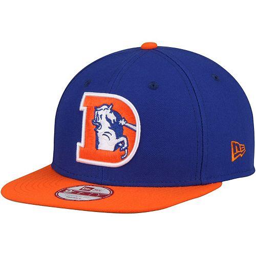 Men's New Era Denver Broncos Royal Southside Snap Original Fit 9FIFTY Adjustable Snapback Hat
