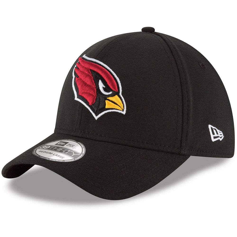 Men's New Era Black Arizona Cardinals Team Classic 39THIRTY Flex Hat