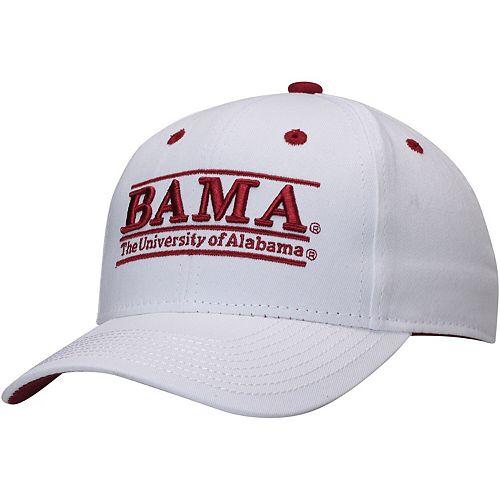 Men's The Game White Alabama Crimson Tide Classic Bar Adjustable Snapback Hat
