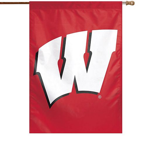 """WinCraft Wisconsin Badgers 28"""" x 40"""" Big Logo Single-Sided Vertical Banner"""