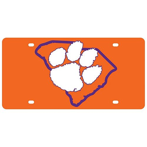 Clemson Tigers State Pride License Plate