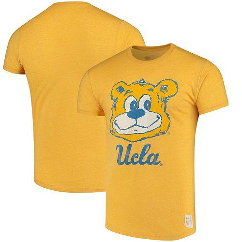 Men's Original Retro Brand Gold UCLA Bruins School Logo Mock Twist T-Shirt