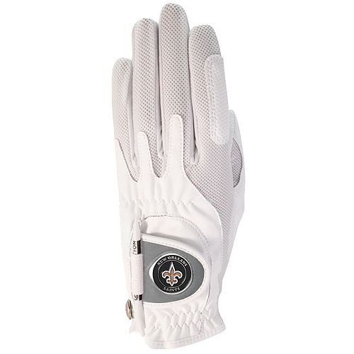 Women's White New Orleans Saints Left Hand Golf Glove & Ball Marker