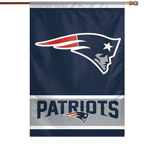 "WinCraft New England Patriots 28"" x 40"" Primary Logo Single-Sided Vertical Banner"