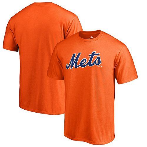 Men's Fanatics Branded Orange New York Mets Team Wordmark T-Shirt