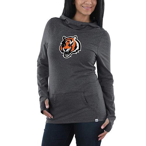 Women's Majestic Charcoal Cincinnati Bengals Great Play Pullover Hoodie