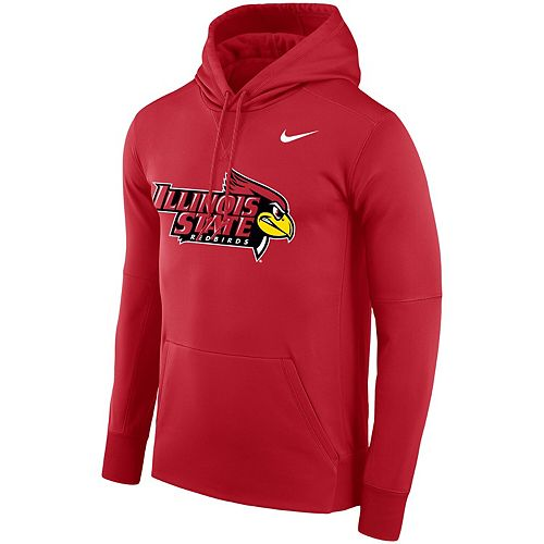 Men's Nike Red Illinois State Redbirds Logo Therma Performance Hoodie