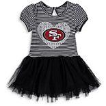 Girls Preschool Black/White San Francisco 49ers Celebration Scoop Neck Tutu Dress