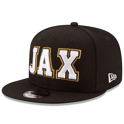 Men's New Era Black Jacksonville Jaguars Home Turf 9FIFTY Adjustable Snapback Hat