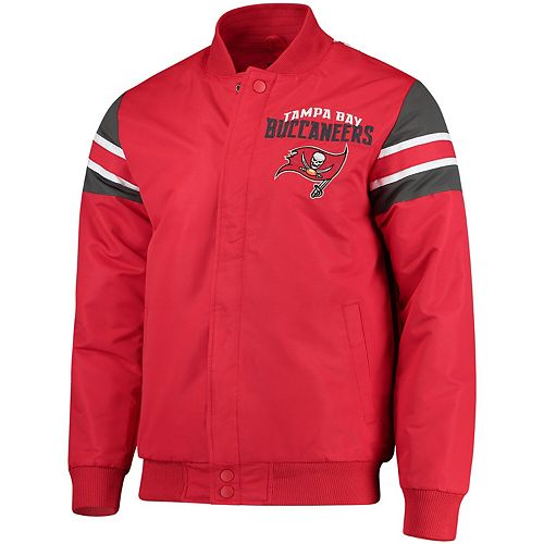 Men's G-III Extreme Red Tampa Bay Buccaneers Alpha Full-Snap Jacket