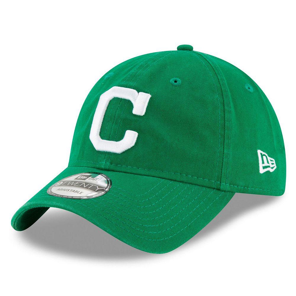 Men's New Era Green Cleveland Indians Primary Logo St. Patrick's Day Core Classic 9TWENTY Adjustable Hat