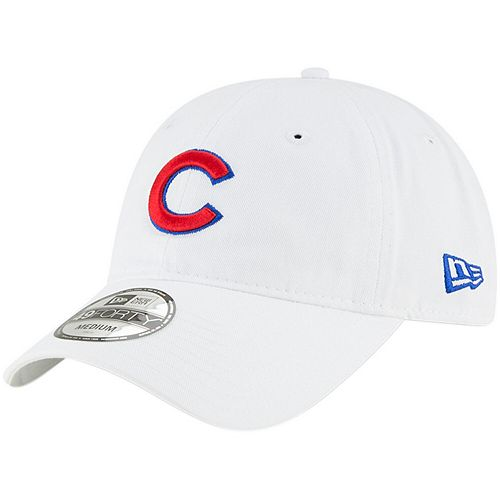 Men's New Era White Chicago Cubs Core 49FORTY Fitted Hat