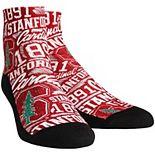 Youth Stanford Cardinal Logo Sketch Quarter-Length Socks