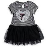 Girls Toddler Black/White Atlanta Falcons Celebration Scoop Neck Tutu Dress