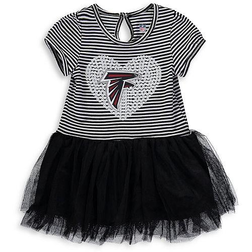 Girls Toddler Black/White Atlanta Falcons Celebration Scoop Neck Tutu Dress