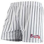 Men's Concepts Sport White Atlanta Braves Vigor Boxer Shorts