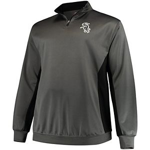 release date: a6db2 e98fa Men's Majestic Heathered Gray Chicago White Sox Contenders Welcome  Quarter-Zip Mock Neck Raglan Pullover Jacket