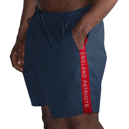 Men's G-III Sports by Carl Banks Navy/Red New England Patriots Volley Swim Trunks