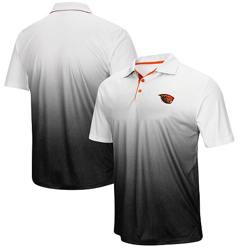 Men's Colosseum Gray Oregon State Beavers Magic Team Logo Polo