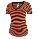 Women's Levi's® Orange/Black San Francisco Giants Striped V-Neck T-Shirt