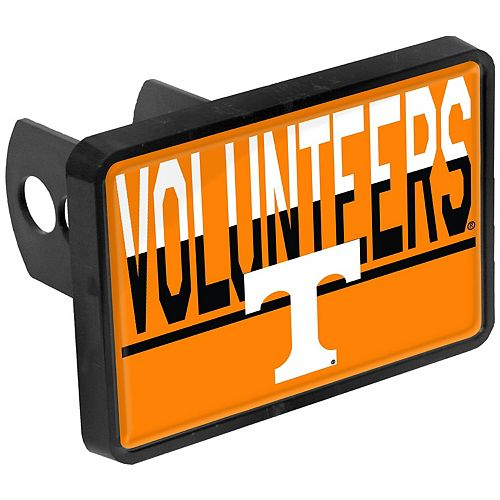 Tennessee Volunteers Duo-Tone Rectangular Plastic Hitch Cover